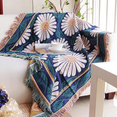 简约沙发毯沙发巾罩床盖毯纯棉线毯子飘窗垫地中海全盖布艺防尘套品牌排行榜