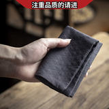 High-grade Japanese-style Zen-Italian cotton hand-printed tea towel tea cloth tea cloth pot clean square towel cup cushion insulation pad