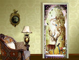 Cross-border Nordic ins wall watercolor elk rich deer room wardrobe door sticker snare sticker waterproof