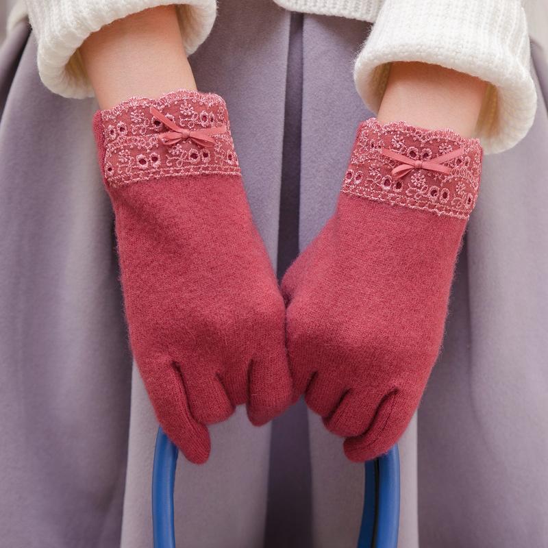 双层保暖加绒加厚分指手套