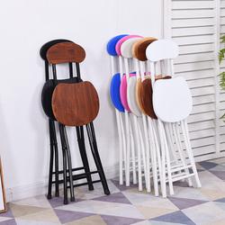 折叠椅子家用餐椅简易椅子靠背椅宿舍凳子阳台靠椅便携折叠圆凳