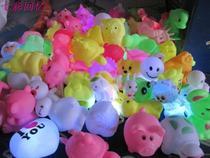 Coloré flash LED veilleuses cadeaux créatifs nouvelles étranges petites lampes étals jouets luminescents veilleuse lampe