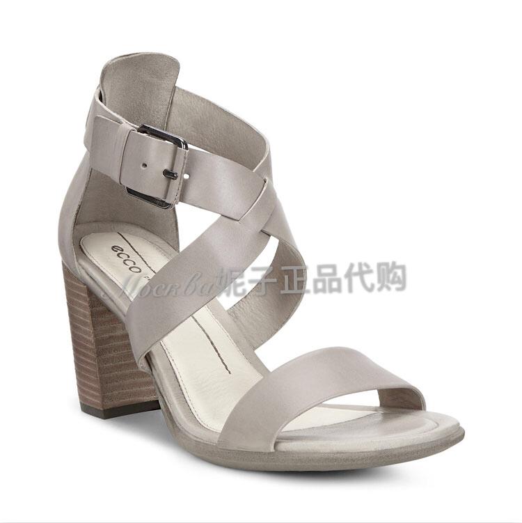 俄罗斯专柜正品代购 Ecco爱步春夏新款时尚女凉鞋 高跟女鞋251023