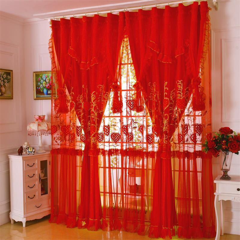 浪漫窗帘纱