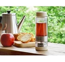 现货 日本 Vitantonio 隔热双层水杯 可旋转 茶水分离带茶滤