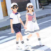 Kindergarten Garden Service Summer New Primary School Uniform Children's Class Service College Wind Six One Performance Graduation Costume Set