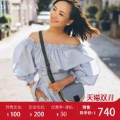 【预售】DISSONA迪桑娜女包2018新款时尚单肩包 百搭斜挎包马鞍包
