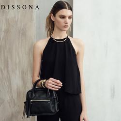 迪桑娜单肩包女新款斜挎包小包包真皮女包斜跨包牛皮休闲手提包潮