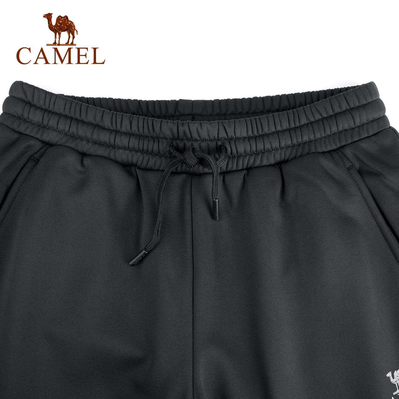 骆驼户外针织长裤 女款保暖耐磨松紧带休闲长裤