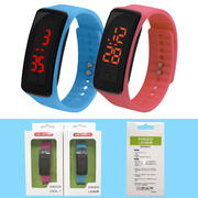 Korean version of the led watch student sports second generation silicone electronic watch children's gift LED bracelet watch watch