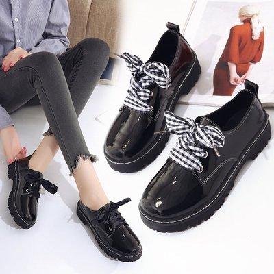 初中生小学生黑色皮鞋10-13-12-15-14-16岁大童女孩子春秋季单鞋