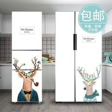 Nordic thickened ins wind elk kitchen renovation ideas decorative door refrigerator freezer air-conditioning foil stickers painting