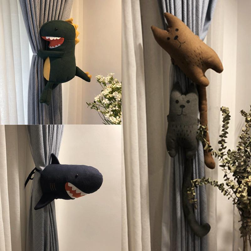 新品卡通创意鳄鱼公仔窗帘扣窗帘夹绑带可爱窗帘配件生日礼品包邮
