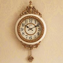简欧钟表挂钟客厅欧式大气奢华欧式时钟挂墙创意潮流家用装饰壁钟