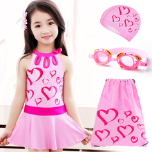 Yo You You Children's Swimming Clothes Girls Korean version of one-piece skirt for children swimming clothes Princess Students Korean Girls Swimming Clothes