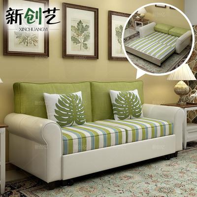 多功能双人皮布沙发床小户型客厅两用布艺沙发地中海1.5米1.8米评价好不好