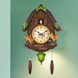 Cuckoo hang bell living room newspaper when grunt clock alarm clock children's room decorative clock personality creative silent quartz clock