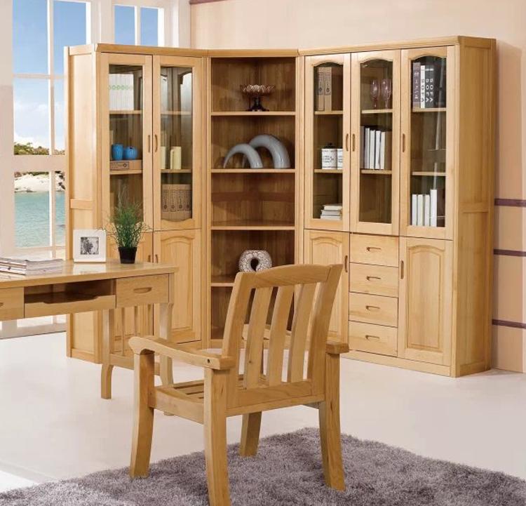 榉木书柜 全实木