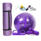 2018升级版瑜伽球瑜伽垫初学者健身垫加宽加厚套装女训练装拉力器
