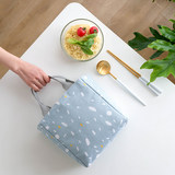 Household portable insulation bag lunch box bag student with rice thick aluminum foil portable canvas ins wind simple lunch bag
