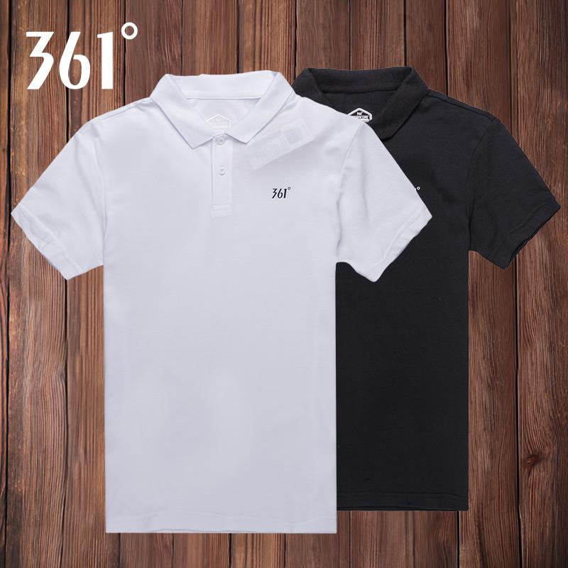 361短袖男t恤翻领polo衫夏季361度2019新款男士宽松运动服半袖短T