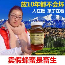 新疆黑蜂蜜1000g自家枣花蜂蜜纯正宗农家天然结晶纯蜜野生土蜂蜜