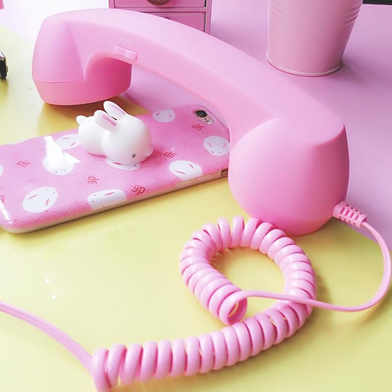 复古电话听筒式耳机