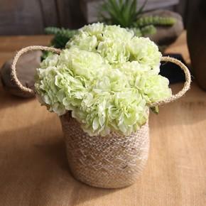 田园欧式仿真花牡丹落地客厅大假花绢花仿真花室内摆放花艺小奢华
