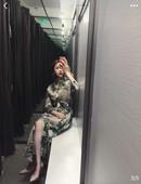 印花连衣裙翻领腰带单排扣气质衬衫 裙女 夏装 新款 ZYZA同款