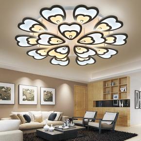 现代简约客厅吸顶灯LED五光十色大气书房卧室灯凤尾书房灯具灯饰