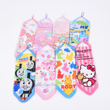 Cotton cute cartoon square towel Children's face towel small square square towel Cotton handkerchief 34*34CM