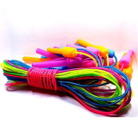 Plastic double tube children jumping rope D1987