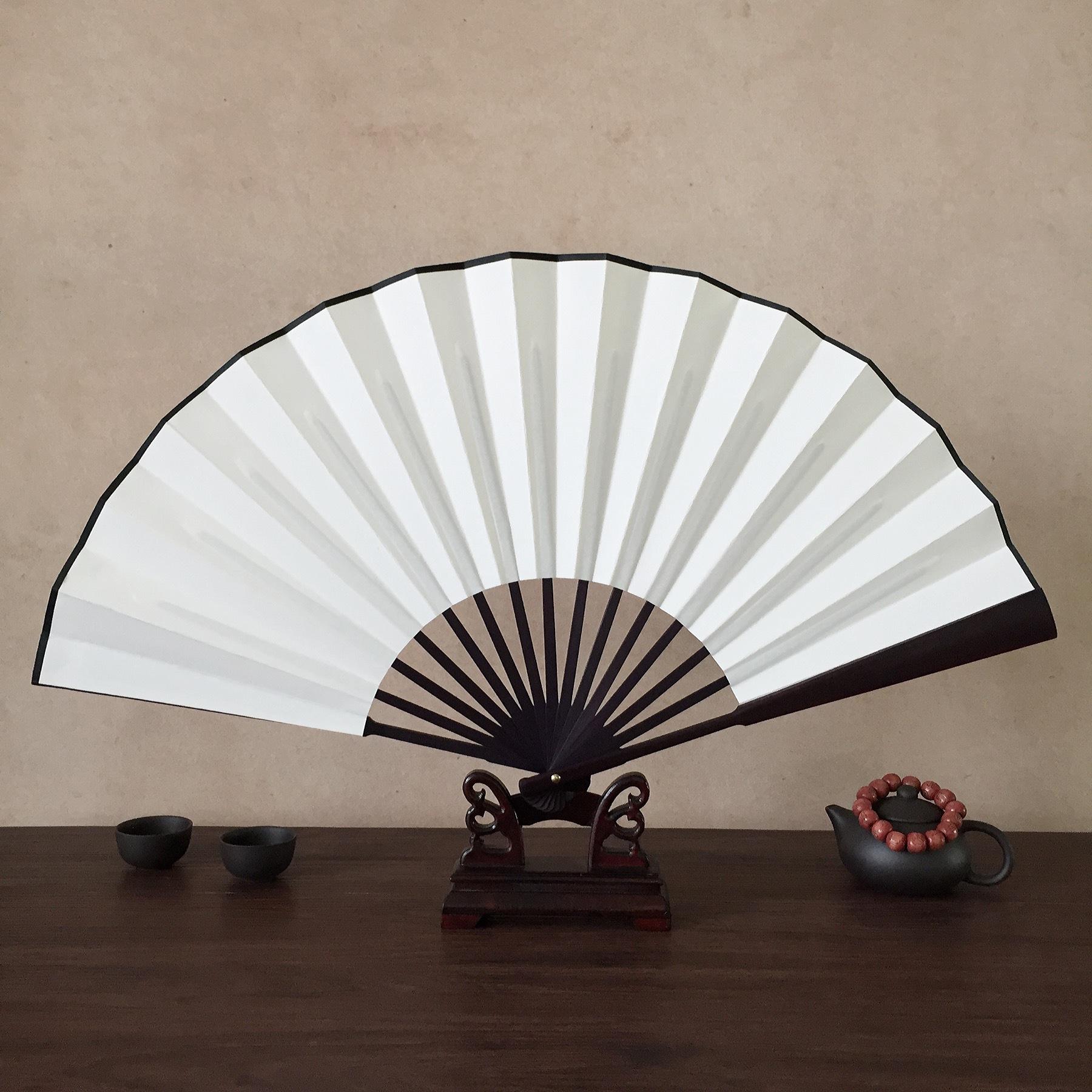 中国国画纸扇子空白