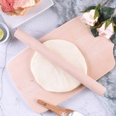 百钻实木擀面杖 披萨饼饺子皮压面棍 面条长杆赶面棒家用烘焙工具