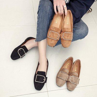 大码豆豆鞋41-43特大号春秋款平底平跟瓢鞋一脚蹬懒人单鞋女鞋