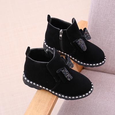 天天特价儿童短靴子真皮马丁靴女童冬靴皮鞋蝴蝶结公主二棉鞋单靴