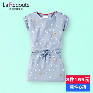 (裙)【天天特价】欧美童装女童连衣裙大童夏装儿童纯棉 KT725