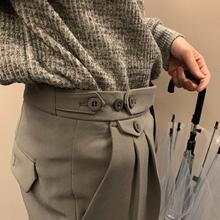 CCJE春季男士西裤男韩版潮流九分裤直筒休闲小西裤港风垂感西装裤