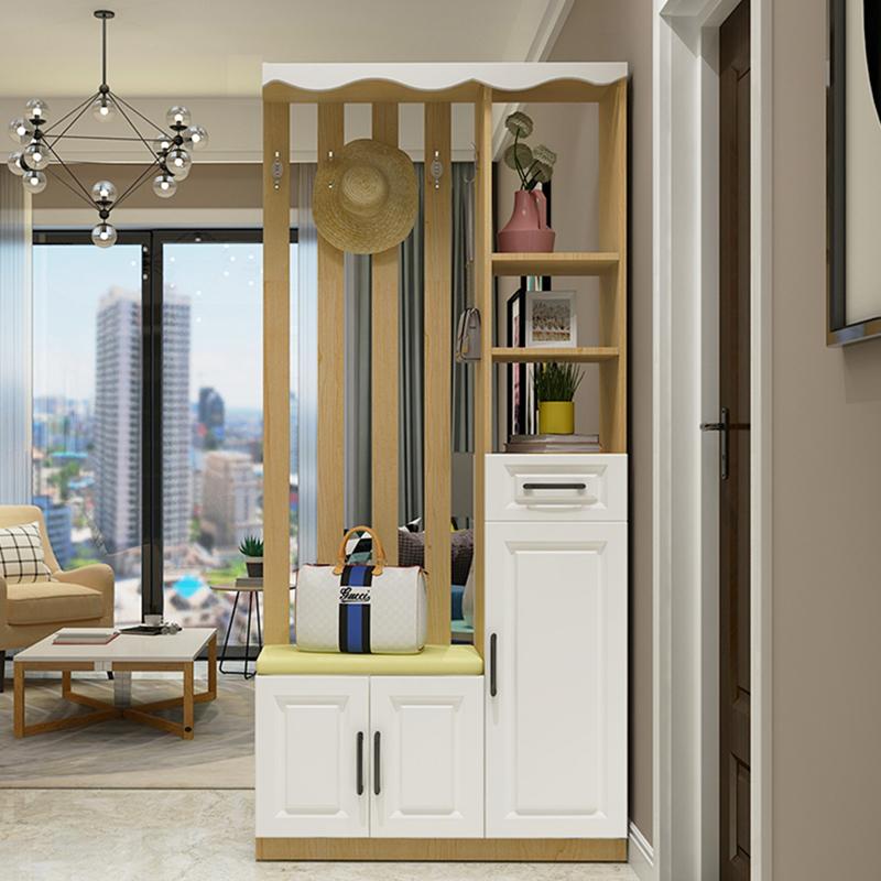 北欧玄关鞋柜简约现代门厅柜进门多功能衣帽柜屏风镂空隔断柜客厅