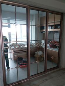 阳台客厅厨房隔断推拉移门钛镁铝合金双层中空钢化玻璃滑动移门
