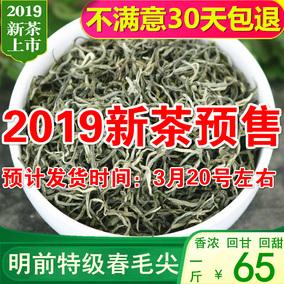 预售绿茶2019新茶特级云南绿茶毛尖春尖浓香型银丝茶叶500g散装