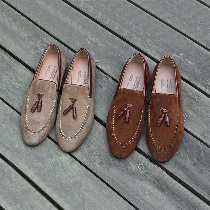套脚反绒懒人鞋