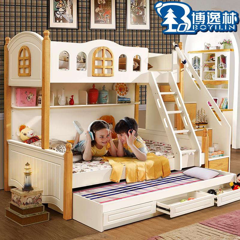 儿童套房双层床