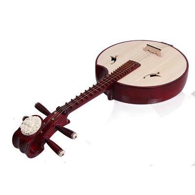 彈撥民族樂器初學紅色硬木專業演奏中阮樂器贈配件弦撥片廠家直銷網店網址
