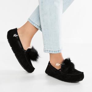 UGG豆豆鞋女冬羊皮毛一体 2018新款真皮防水毛球雪地靴baby同款