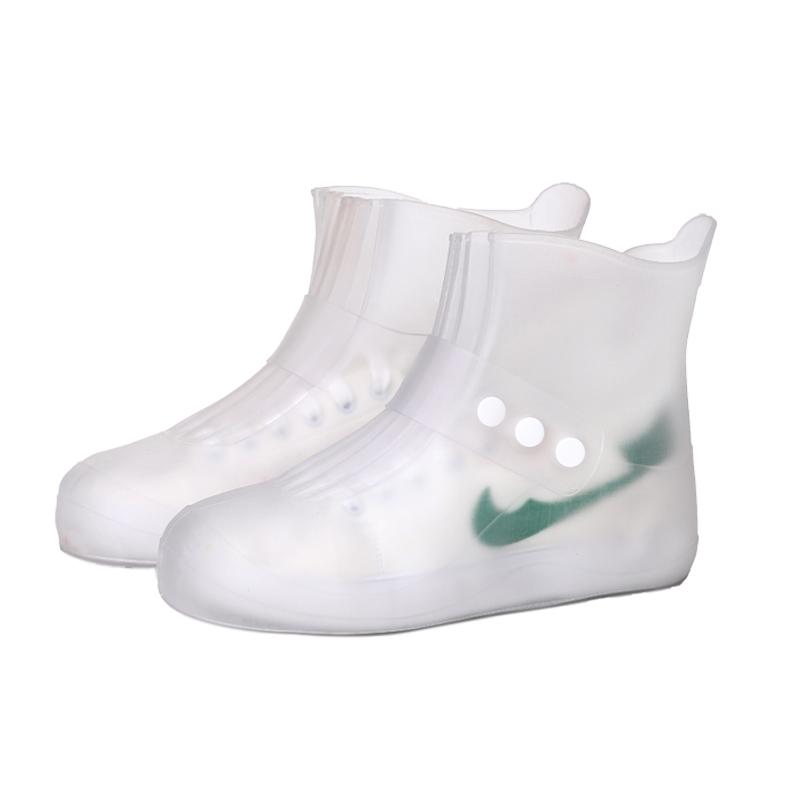 雨靴套成人雨天神器透明雨鞋套便携式简易套鞋防水鞋女士防滑短筒