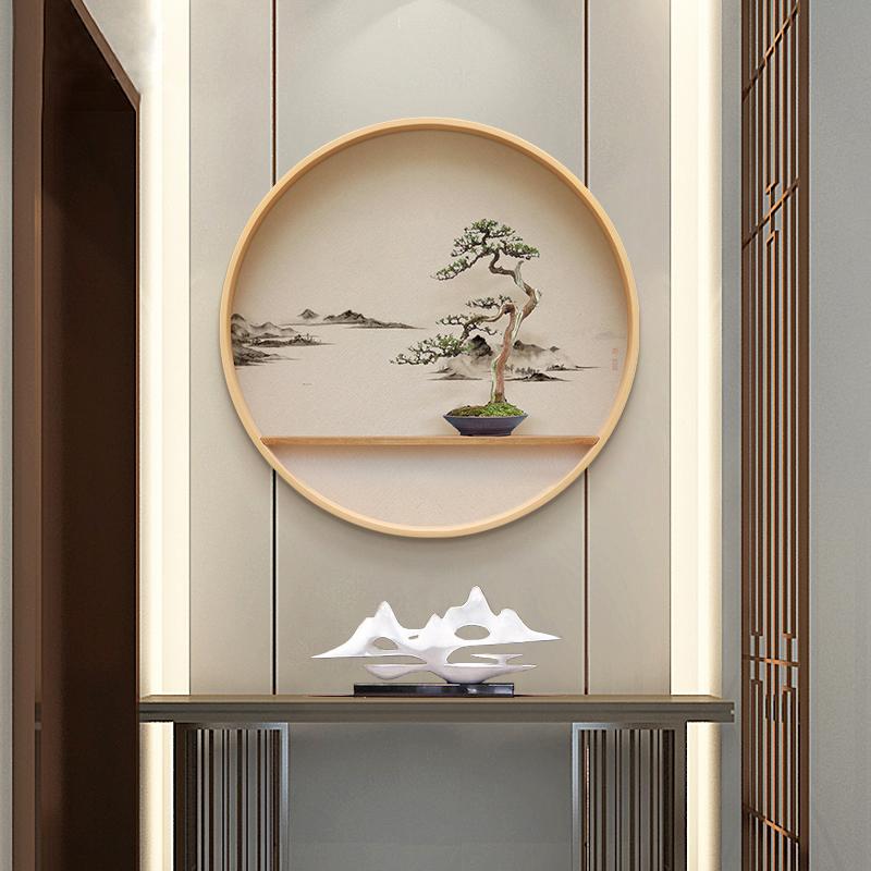 新中式客厅墙挂