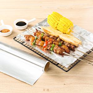 烤箱锡纸家用一次性食用烧烤专用微波炉锡箔纸铝箔烤盘烘焙烤肉
