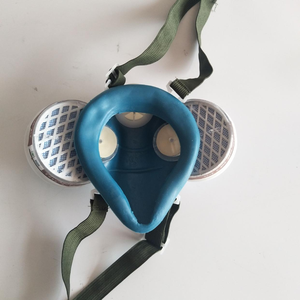 包邮双罐防毒口罩自吸式防毒口罩劳保口罩过滤式防毒口罩