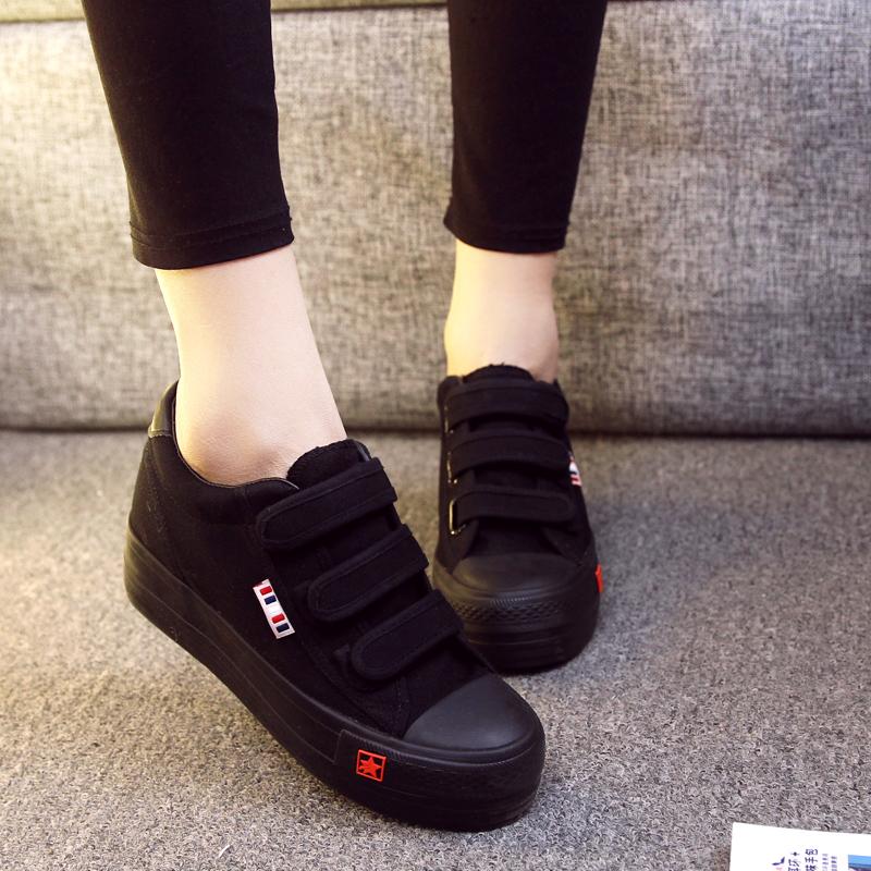 正品黑色帆布鞋